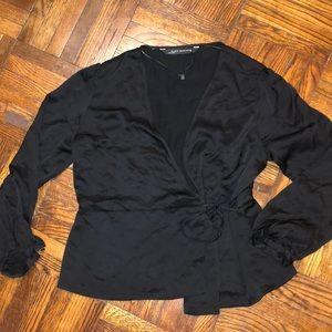 Silky Zara side tie brand new blouse